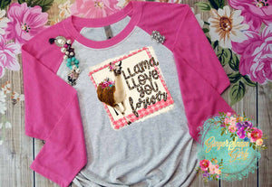 Llama Llove You Forever vintage style Sublimation Transfers