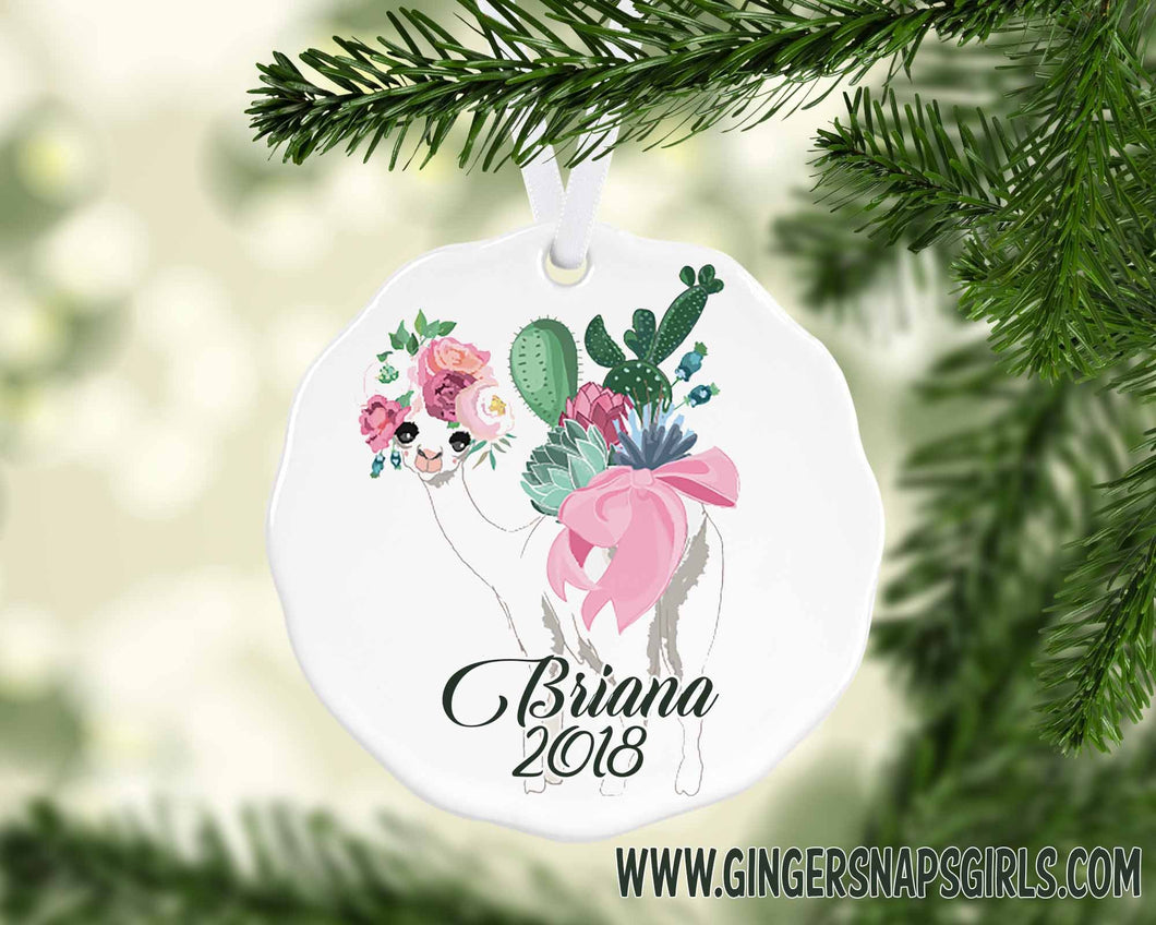 Christmas Baby Llama Personalized Sublimation Transfers