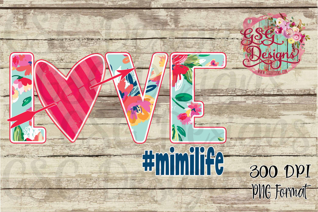 Love Floral #MimiLife Family Sublimation Transfers