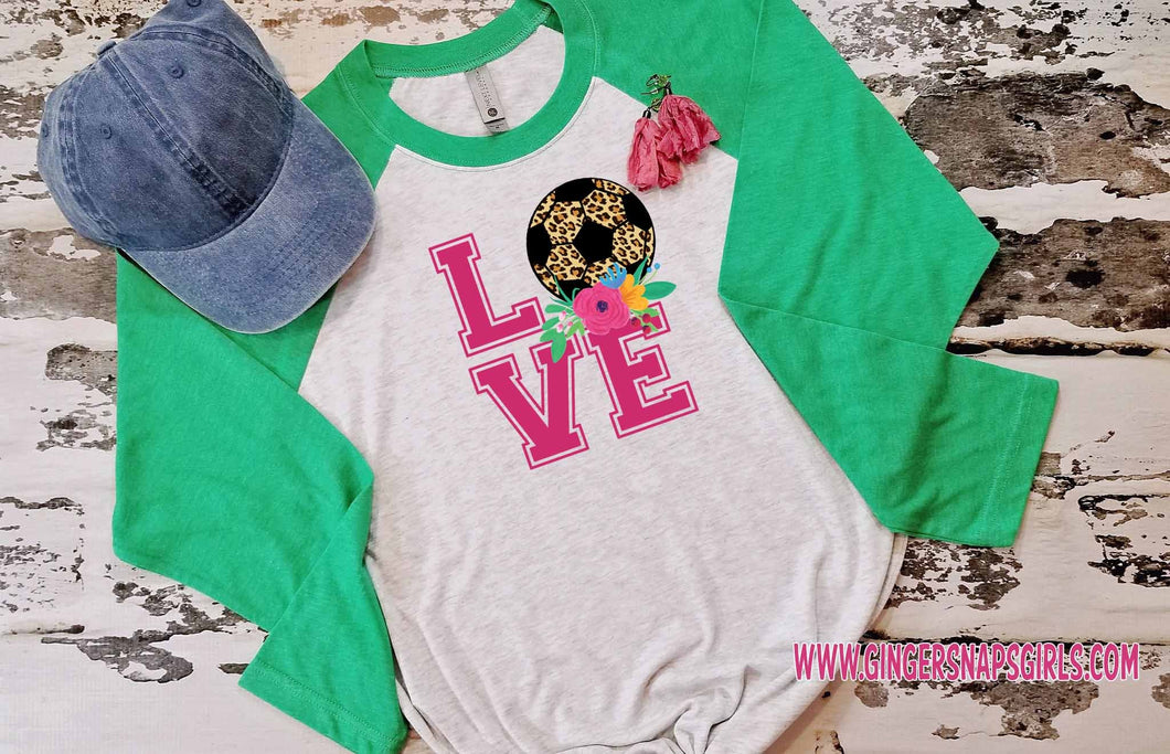 Love Soccer Leopard & Roses vintage style Sublimation Transfers