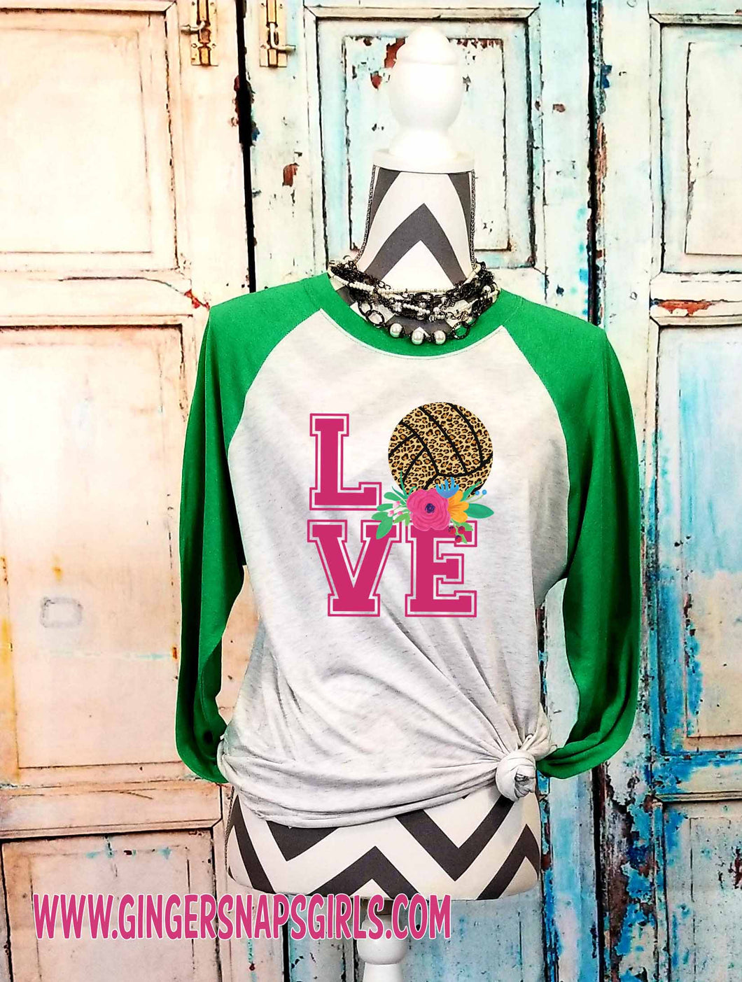 Love Volleyball Leopard & Roses vintage style Sublimation Transfers