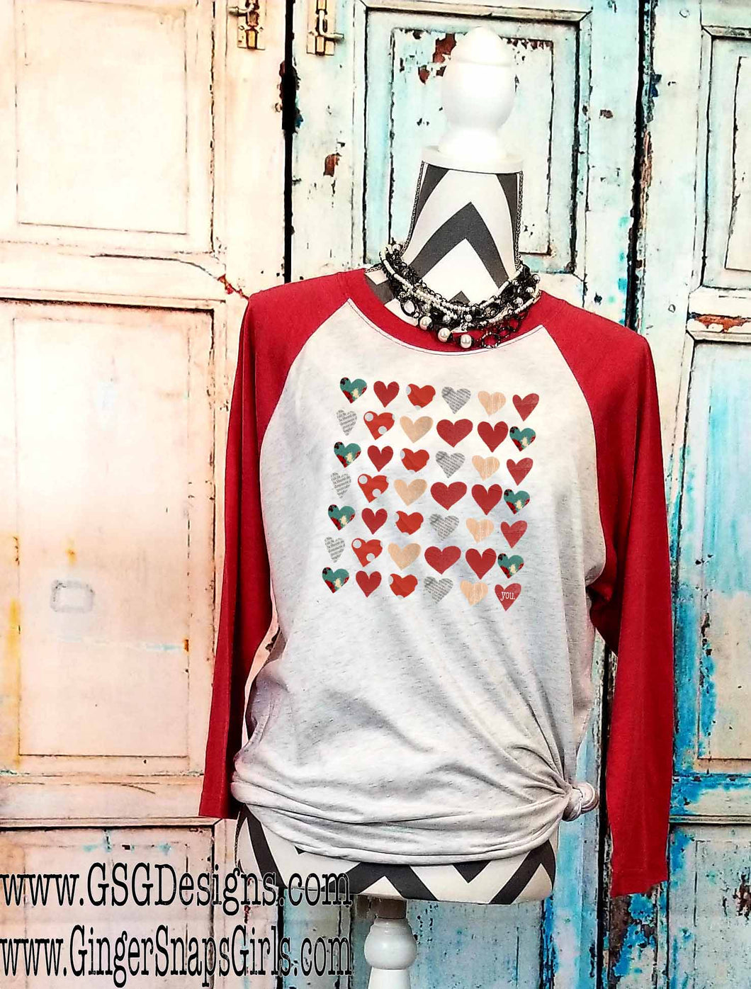 Love You Hearts Sublimation Transfers