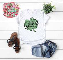 Load image into Gallery viewer, Lucky Leopard Shamrock St Patrick's Day Digital Design File PNG