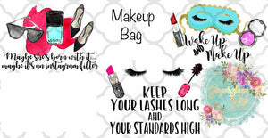 Make Up Cosmetic Bag Funny Sublimation Transfers