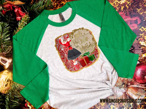 Meet Me Under the Mistletoe Vintage Gold Glitter Merry Christmas Sublimation Transfers