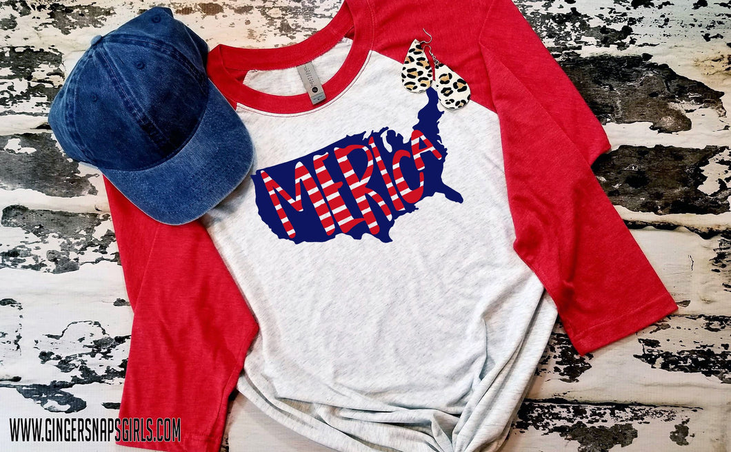 Merica Country red, white, & blue Sublimation Transfers
