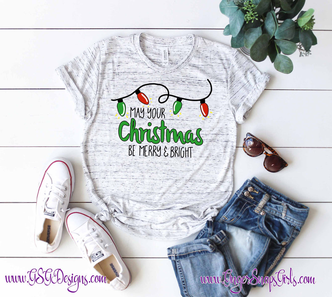 May Your Christmas Be Merry and Bright Sublimation Transfers