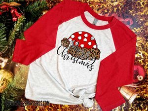 Merry Christmas Leopard and Polka Dot Santa Hat Sublimation Transfers