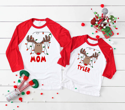 Reindeer Christmas Family Youth and Adult Screen Print Transfers RTS