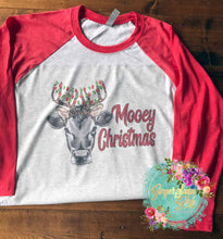 Load image into Gallery viewer, Mooey Christmas Heifer in Antlers with Lights Printable and Sublimation Digital Design File