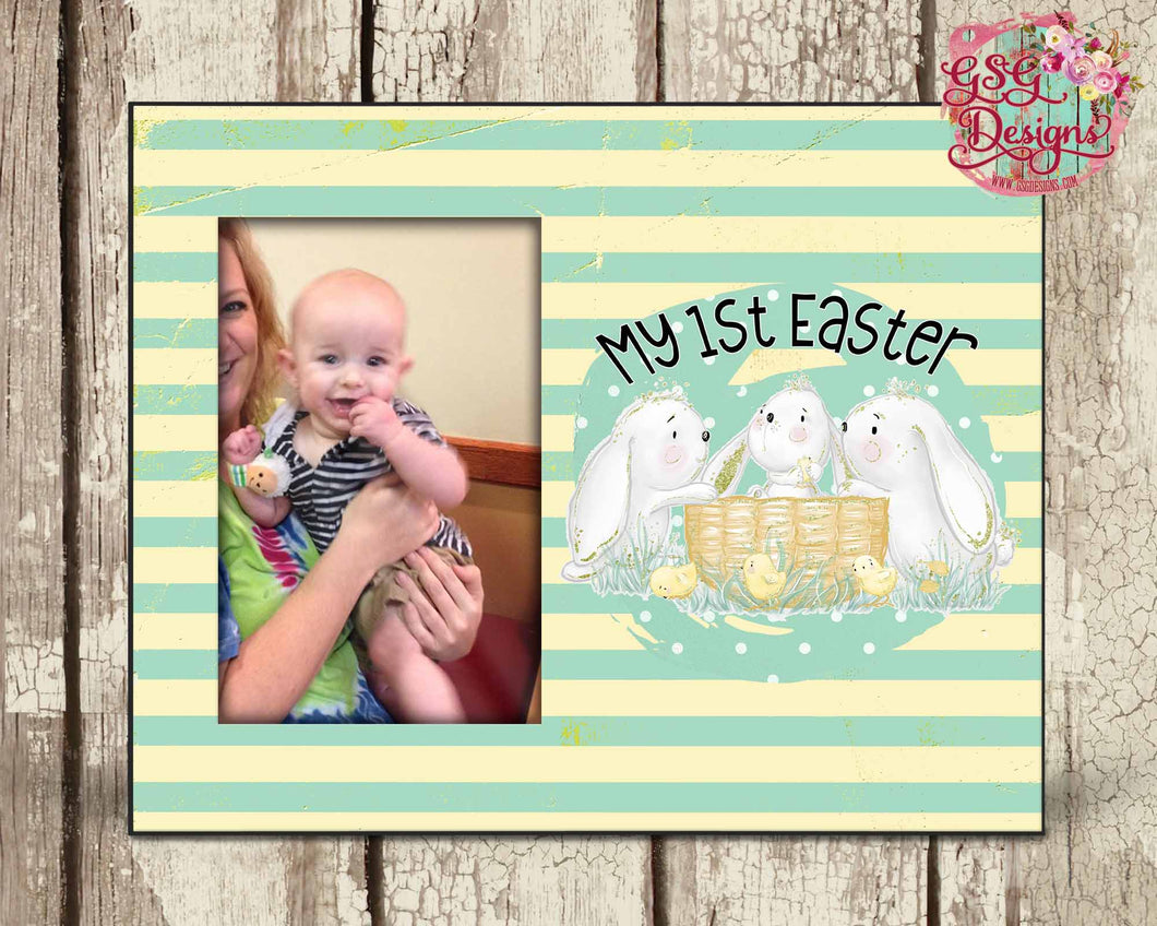 My First Easter, Easter Bunny Photo Frame Template Sublimation Transfers