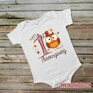 My First Thanksgiving Baby Digital Design File