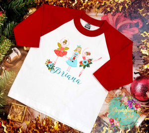 Personalized Nutcracker Ballerinas vintage style Sublimation Transfers