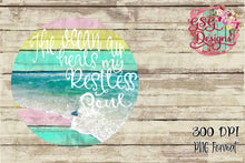 Load image into Gallery viewer, The Ocean Air Heals my Restless Soul Summer Beach Digital Design File PNG