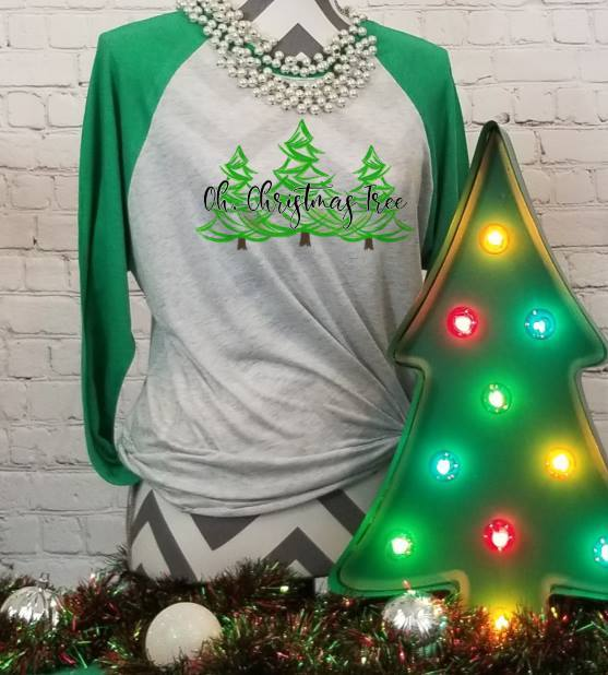Oh Christmas Tree Brush Stroke Trees Sublimation Transfers