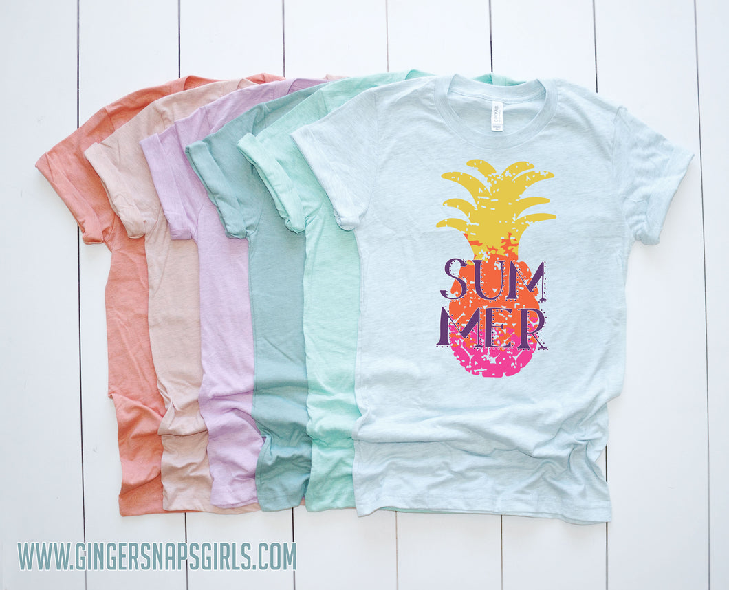 Summer Pineapple Ombre Grunge Sublimation Transfers