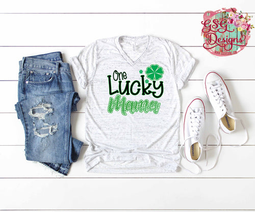 One Lucky Mama St Patricks Day Digital Design File PNG