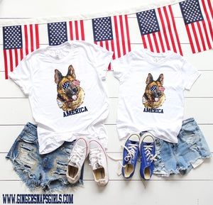 Patriotic German Shepherd Digital Design File PNG