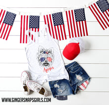 Load image into Gallery viewer, Patriotic Pooches - Yorkie Red, White & Blue Dog Mom Digital Design File