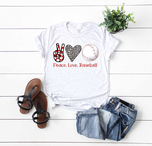 Peace Love Baseball High Heat Screen Print Transfers Restocking 3/6