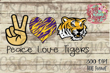 Load image into Gallery viewer, Peace Love LSU Tigers Sublimation Transfers