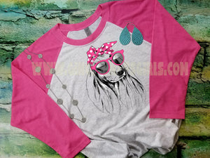 Sassy Dachsund, Everyday I'm Hustlin' Pink or Red Sublimation Transfers