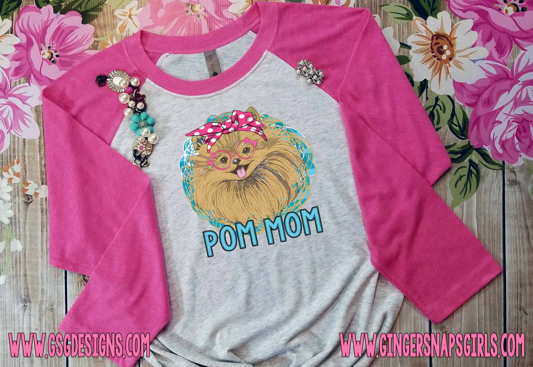 Pom Mom Pomeranian Digital Design File PNG