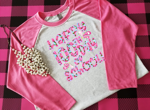 Preppy Happy 100th Day of School Sublimation Transfers