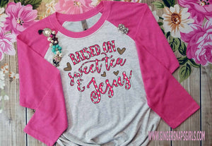 Raised on Sweet Tea & Jesus Leopard and Polka Dot Sublimation Transfers