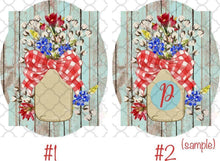 Load image into Gallery viewer, Mason jars red, white, & blue Sublimation Transfers
