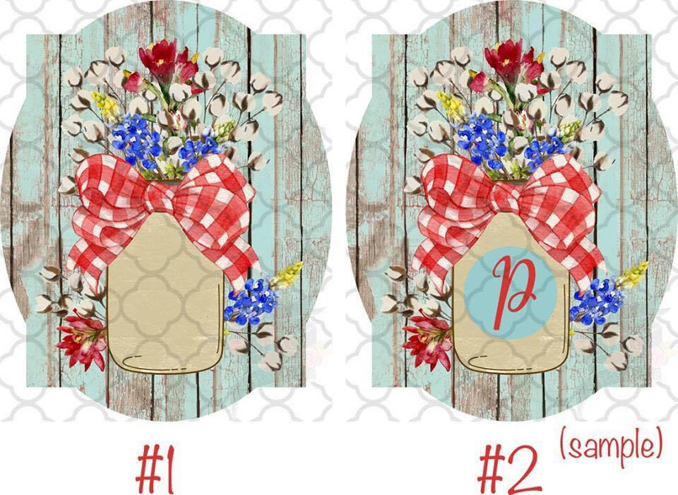 Mason jars red, white, & blue Sublimation Transfers