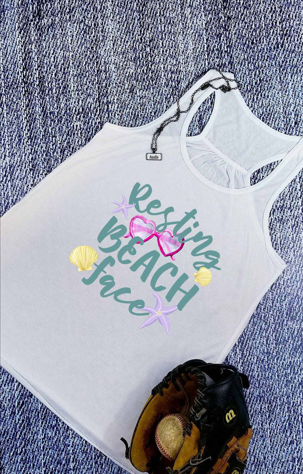 Resting Beach Face Sublimation Transfers