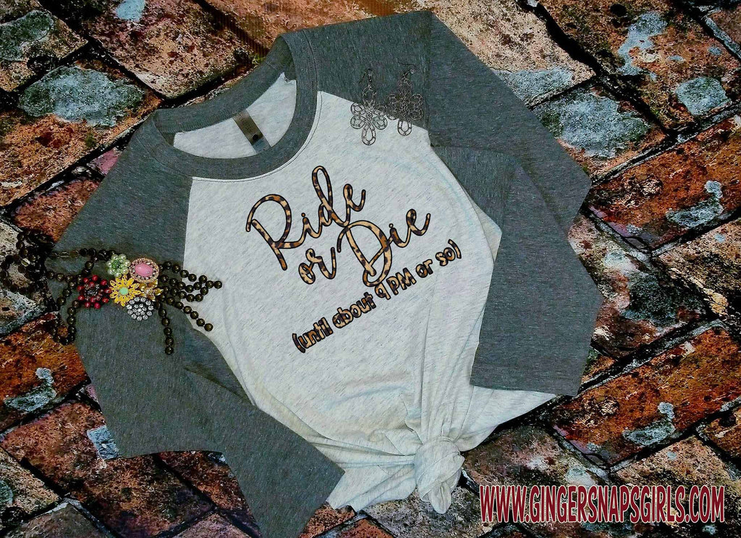 Ride or Die (until 9 pm or so) Leopard Boho Sublimation Transfers