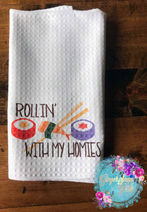 Rollin' with My Homies, That's How I Roll Sushi Funny and Punny Kitchen, Be Willing to Take a Whisk Punny Kitchen Sublimation Transfers