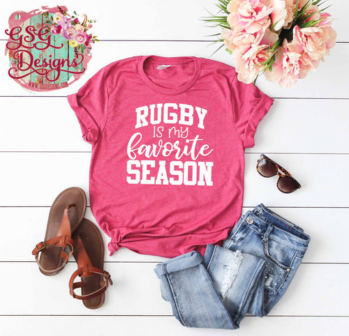 Rugby is my Favorite Season Screen Print Transfers RTS