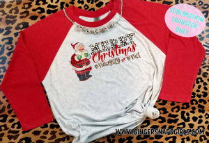 Santa Claus List Naughty or Nice Christmas Sublimation Transfers