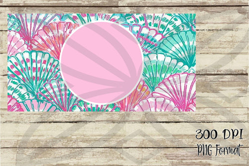 Seashell Monogram License Plate Digital Design File PNG