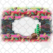 Load image into Gallery viewer, Serape Football Frame vintage style Sublimation Transfers