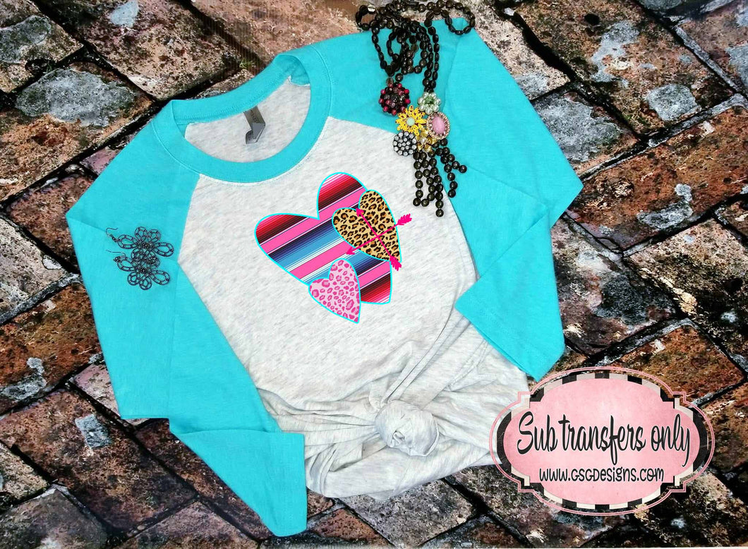 Serape Hearts Valentine's Day Sublimation Transfers