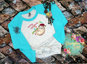 Sloth Merry Christmas Sublimation Transfers