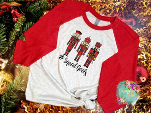 Nutcracker #Squad Goals Buffalo Plaid vintage style Sublimation Transfers
