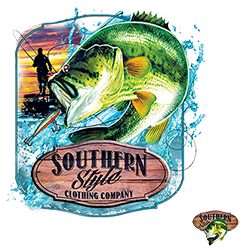 Southern Style Brand Bass Screen Print High heat Transfers RTS