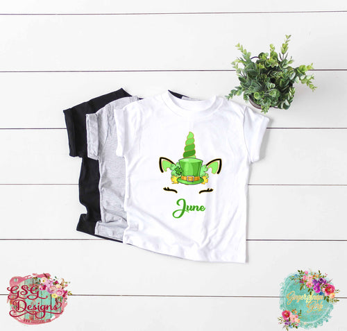 St Patrick's Day Unicorn Personalized Sublimation Transfers