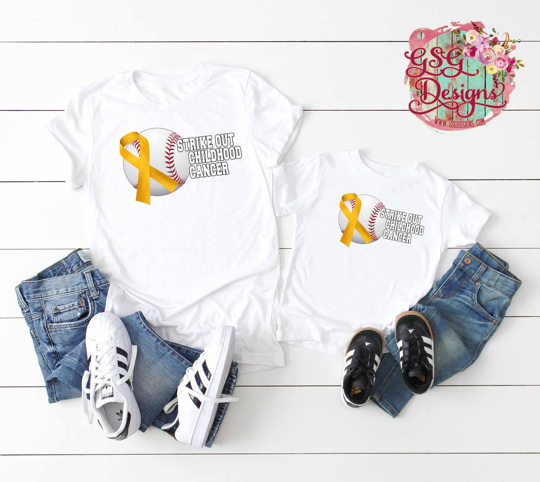 Strike Out Baseball Childhood Cancer Ribbon Support Digital Design File png