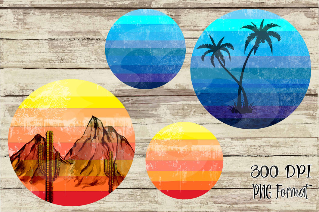 Colorful Striped Circle Digital Design Frames PNG