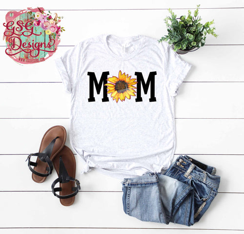 Mom Sunflower Screen Print Transfers RTS