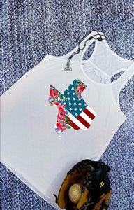 Red White and Blue Texas Patriotic Sublimation Transfers