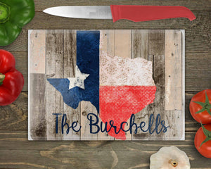 Custom Texas State Wood Cutting Board Sublimation Transfers