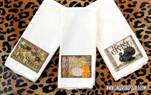 Vintage Happy Thanksgiving Sublimation Transfers