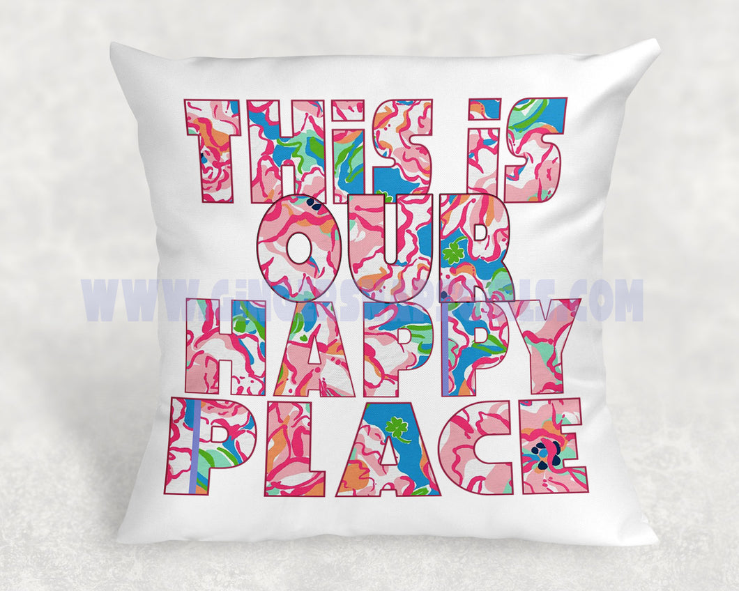 This is Our Happy Place Floral Sublimation Transfers